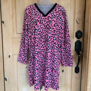 Joe Boxer Pink Animal Print Fleece Nightgown